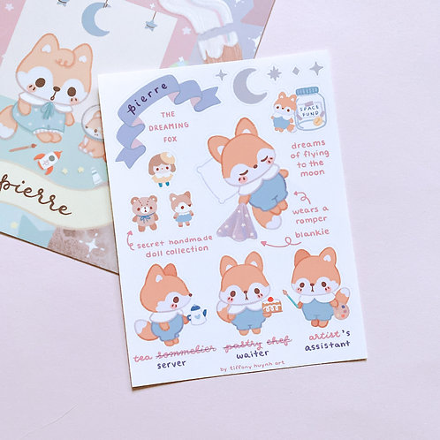 Pierre Fox - Sticker Sheet