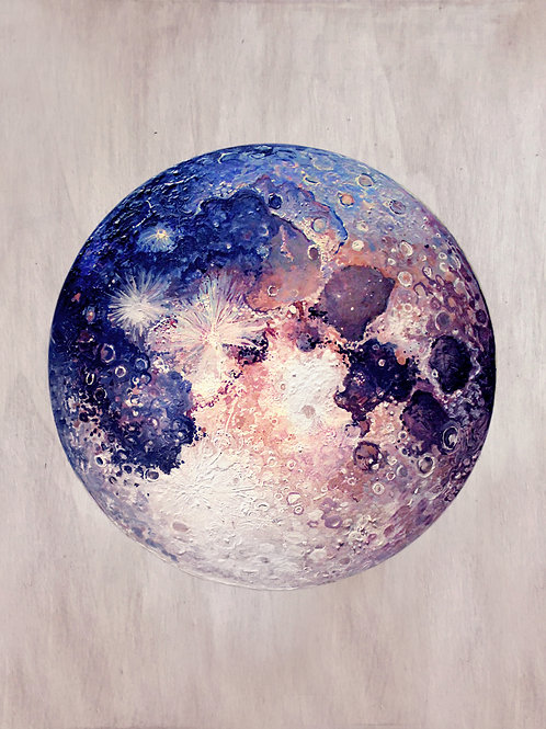 Moon - Oils on Timber