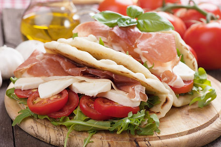 Piadina romagnola, italian flatbread san