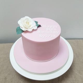 rose 90th birthday cakes