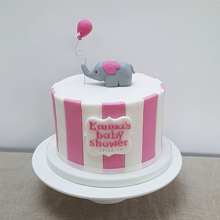 What a busy week! A cute little striped elephant cake to round off the week for a baby shower tomorrow.jpg