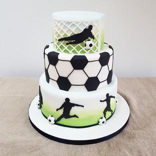 Football boys birthday cakes