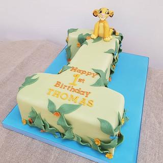 Lion king kids cake 1st birthday cake