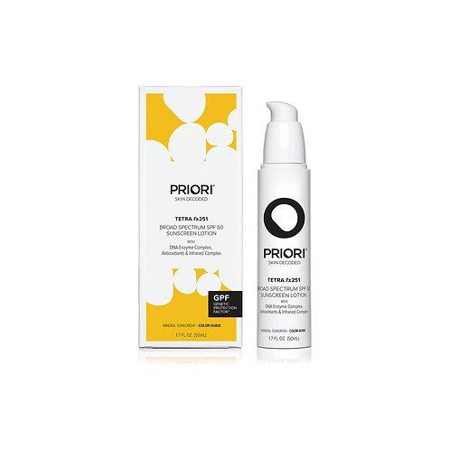 PRIORI Tetra fx251 - Tinted Sunscreen SPF 50