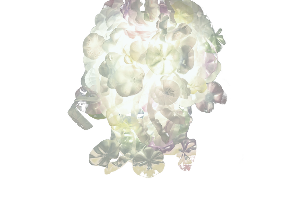 FLOWERS Big Pale Colors paralume / lampshade