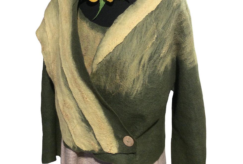 Giacca feltro verde / Green felt jacket