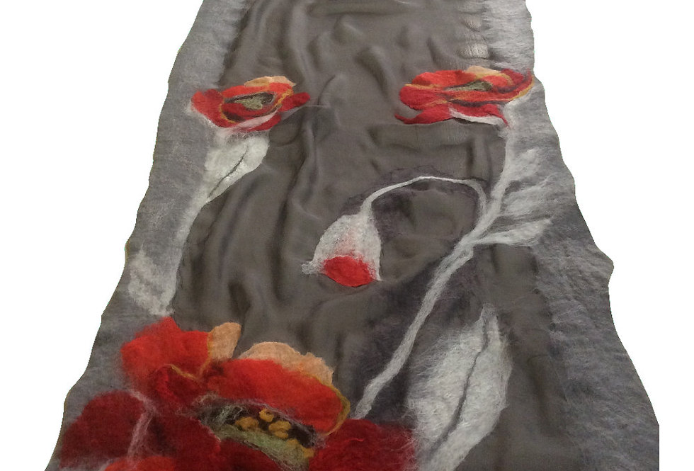 Sciarpa papaveri grandi/ Big poppies scarf