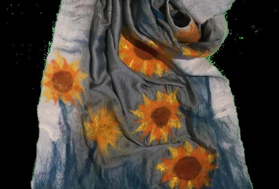 Sciarpa girasoli / Sunflowers scarf