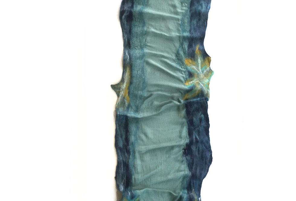 Sciarpa verde e oro / Green and gold scarf