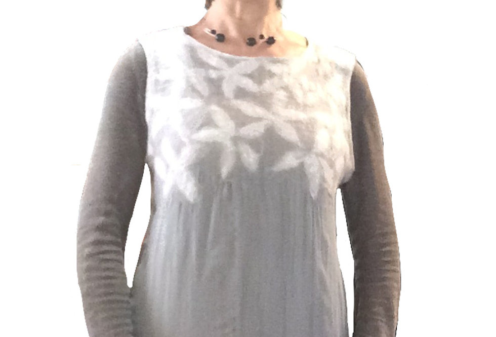 Blusa nuvola fiori bianchi / White flowers cloud blouse