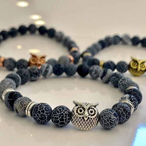Bubo Owl Dragon Vein Bracelets