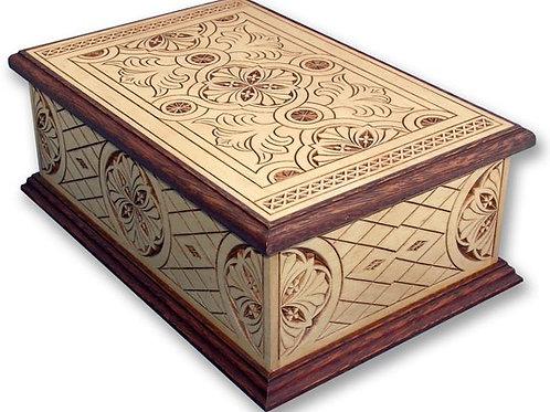 Acclaim Wood Carved Box Urn