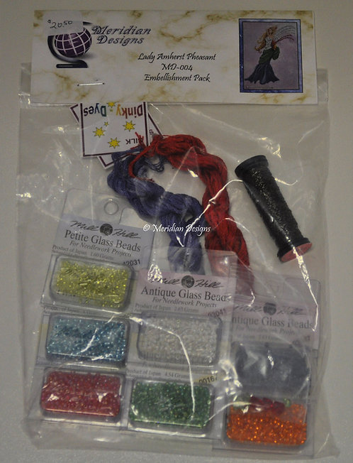 Lady Amherst Pheasant Embellishment Pack