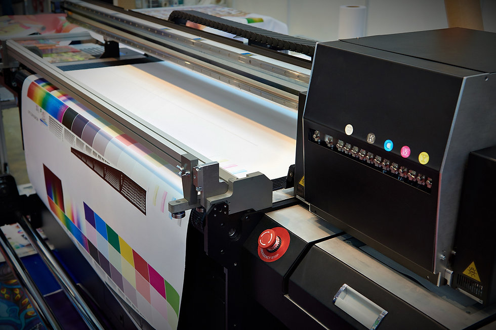 CMYK Ink cartridges and a plotter