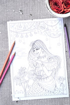 Lineart coloring page illustrated