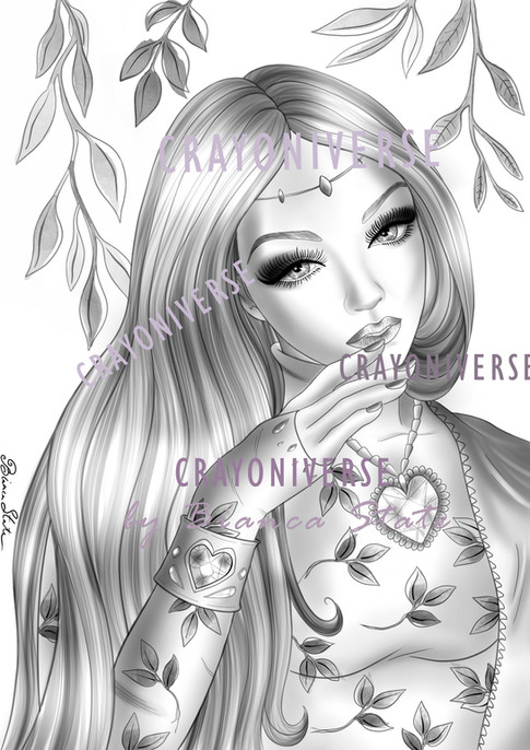 Lady of the Leaves_Grayscale_watermarked