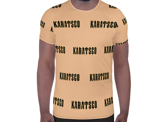 Company Logo All-Over Print Men's Athletic T-shirt