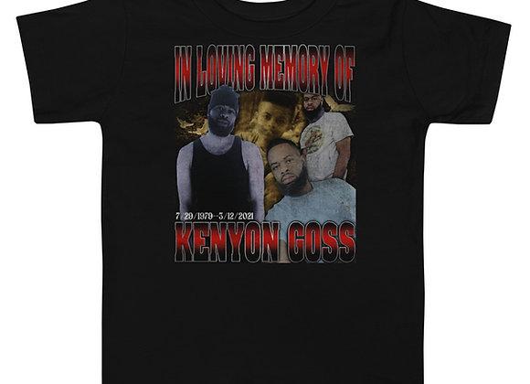 In Loving Memory Of Kenyon Goss Toddler Short Sleeve Tee