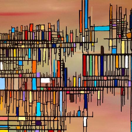 relatività, oil on canvas, 100 cm x 70 cm, 2018
