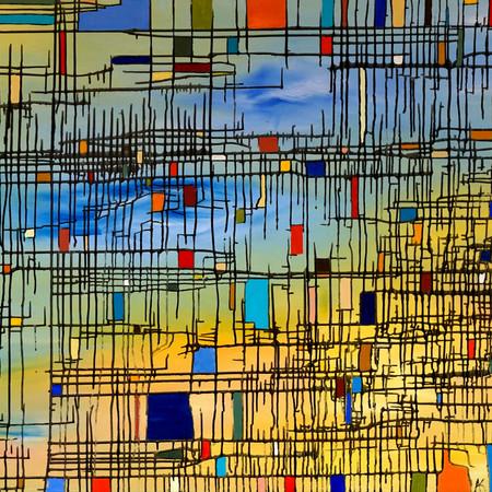 relatività, oil on canvas, 160 cm x 90 cm, 2018