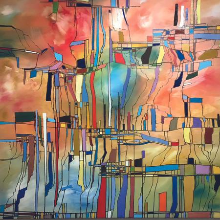 relatività, oil on canvas, 240 cm x 150 cm, 2018