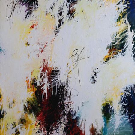 Lacrima del pesce, oil on wood, 143 cm x 215 cm, 2019