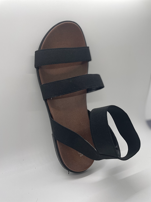 Women's Black Elastic Ankle Strap Sandals - Universal Thread