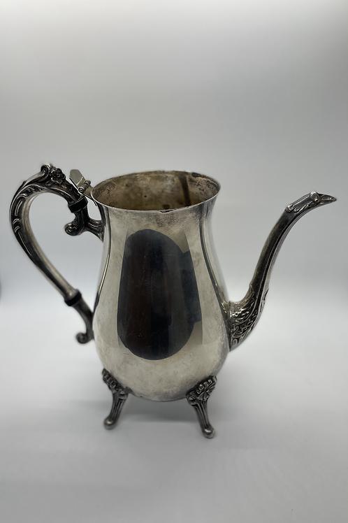 Leonard Silverplate Ornate Floral Teapot