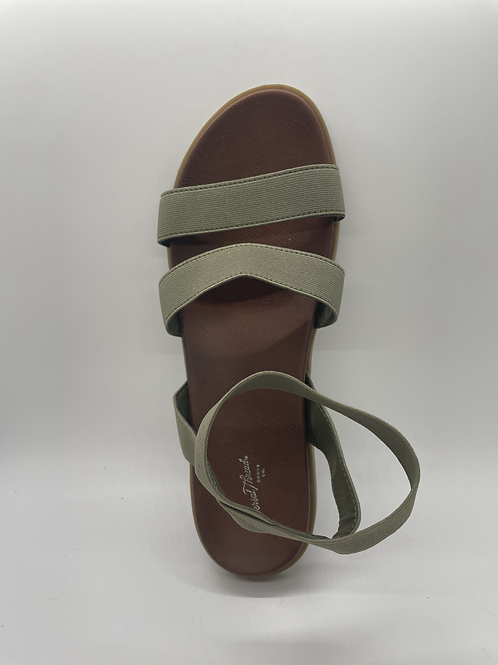 Women's Olive Green Elastic Ankle Strap Sandals - Universal Thread