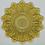 Thumbnail: 2 Amber Federal Glass Petal Pattern Plates