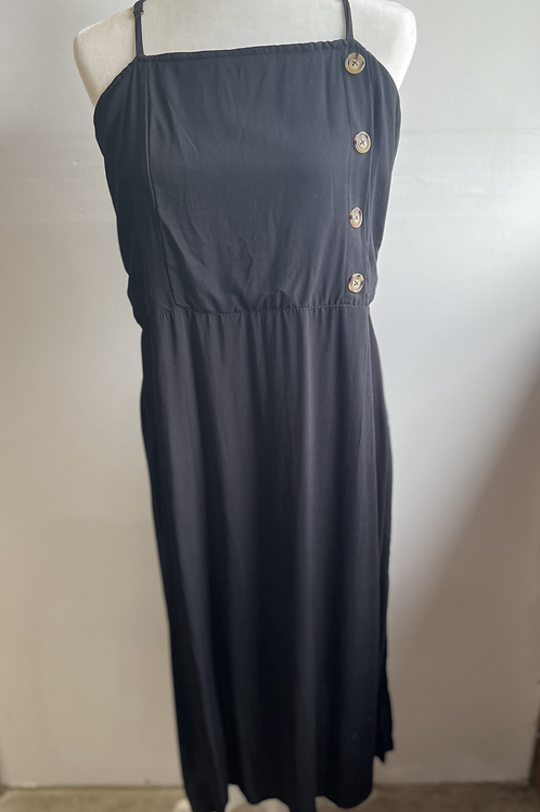 Xhilaration Black Dress with Buttons