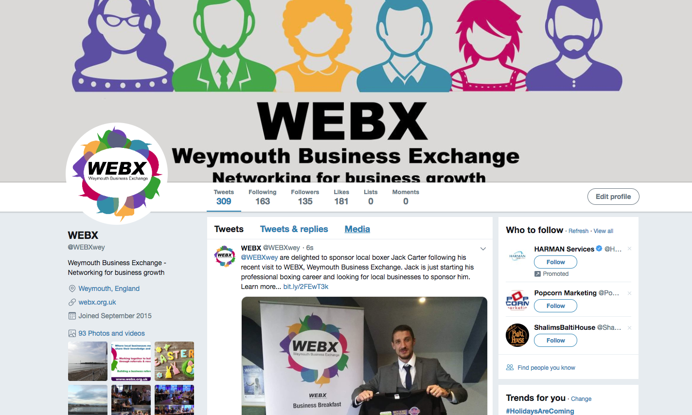 WEBX Weymouth Business Exchange Networki