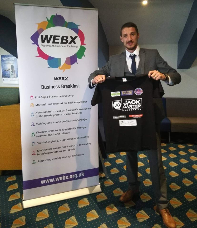 Jack Carter Boxer Sponsored by WEBX Weymouth Business Exchange