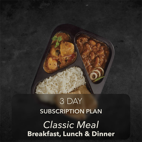 3 day - Classic Meal - All three meals