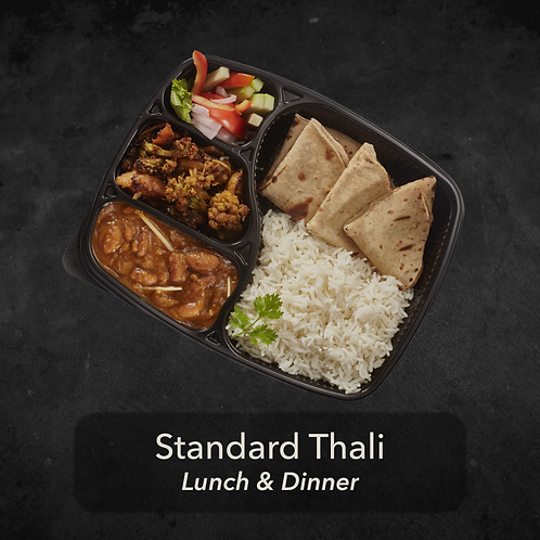 1 day - Standard Thali - Two meals