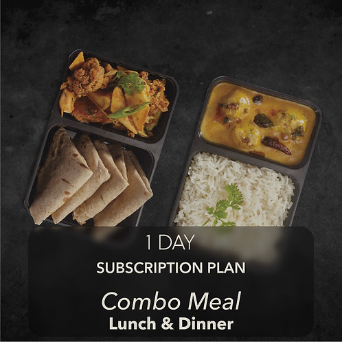 1 day - Combo Meal - Two meals