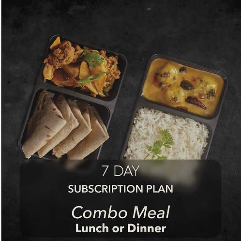 7 day - Combo Meal - One meal