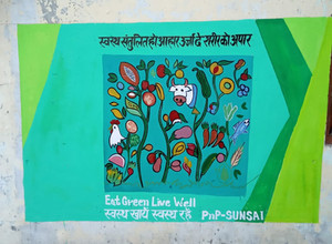 Wall Paintings for Awareness in Uttarakhand under SUNSAI Project