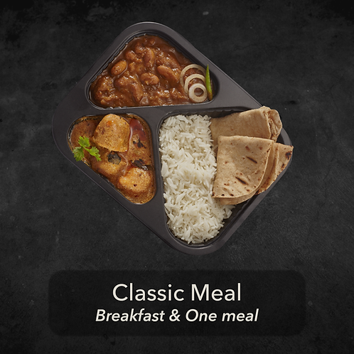30 day - Classic Meal - Breakfast & One meal