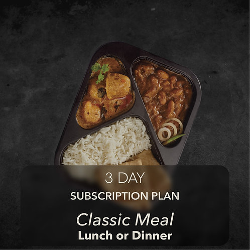 3 day - Classic Meal - One meal