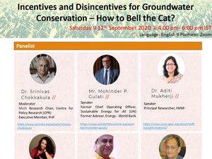 Webinar on Incentives and Disincentives for Groundwater Conservation