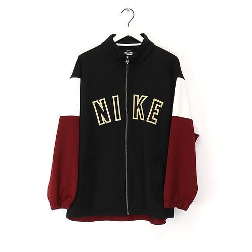 original Nike 90's vintage black/red/white block logo spell out zip Jacket, men'