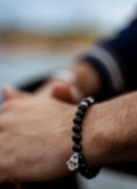 Modern Zen x Hamsa Beaded bracelet for men