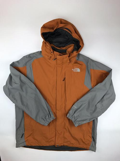 The North Face Orange/Grey HYVENT lightweight jacket, men's XL