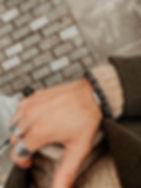 Beaded bracelet for men and cuff bracelet stainless steel