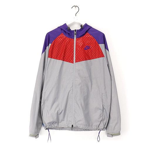 Nike 90's rare vintage sport zip jacket purple/red/grey. men's XL