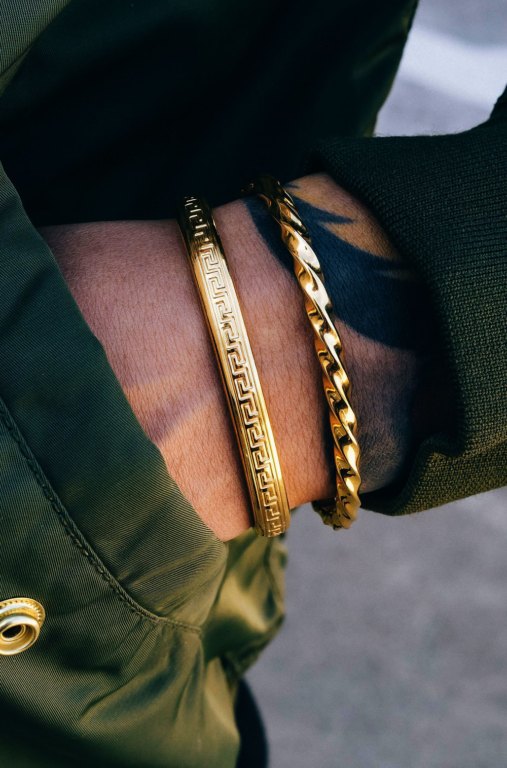 Gold jewelry for men and gold accessories for men