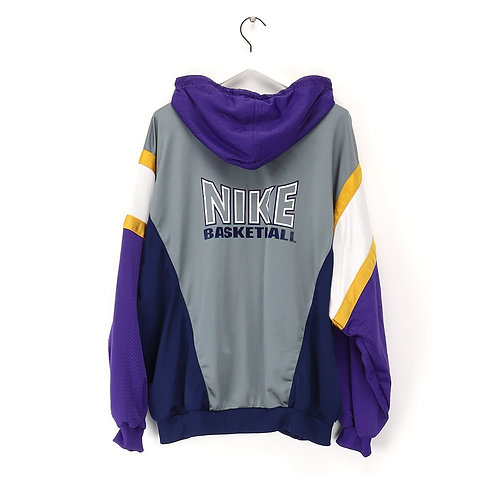 Nike 90's vintage basketball zipper Hoodie Pull, men's XXL
