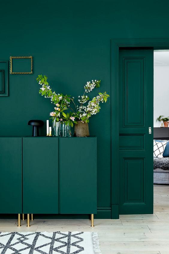 Verde profundo: a cor de decoração de 2017