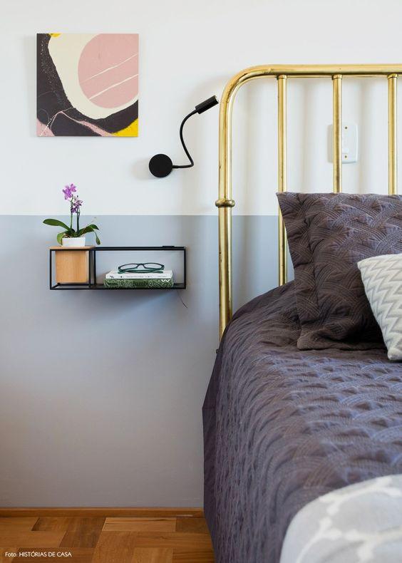 Cabeceira de cama em metal